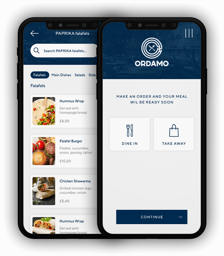 Ordamo Order and Pay App